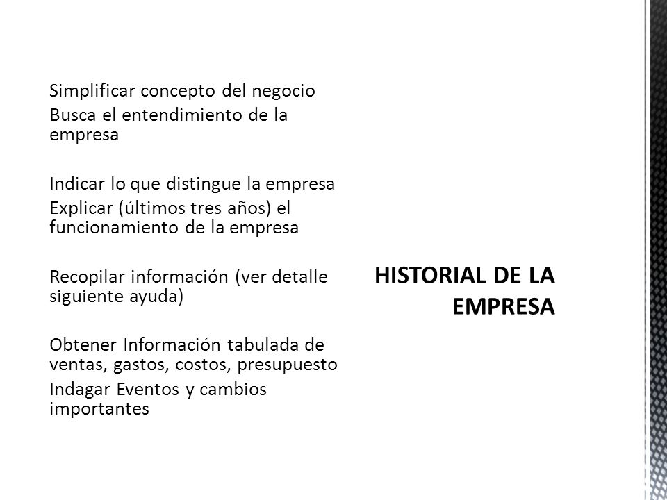 HISTORIAL DE LA EMPRESA