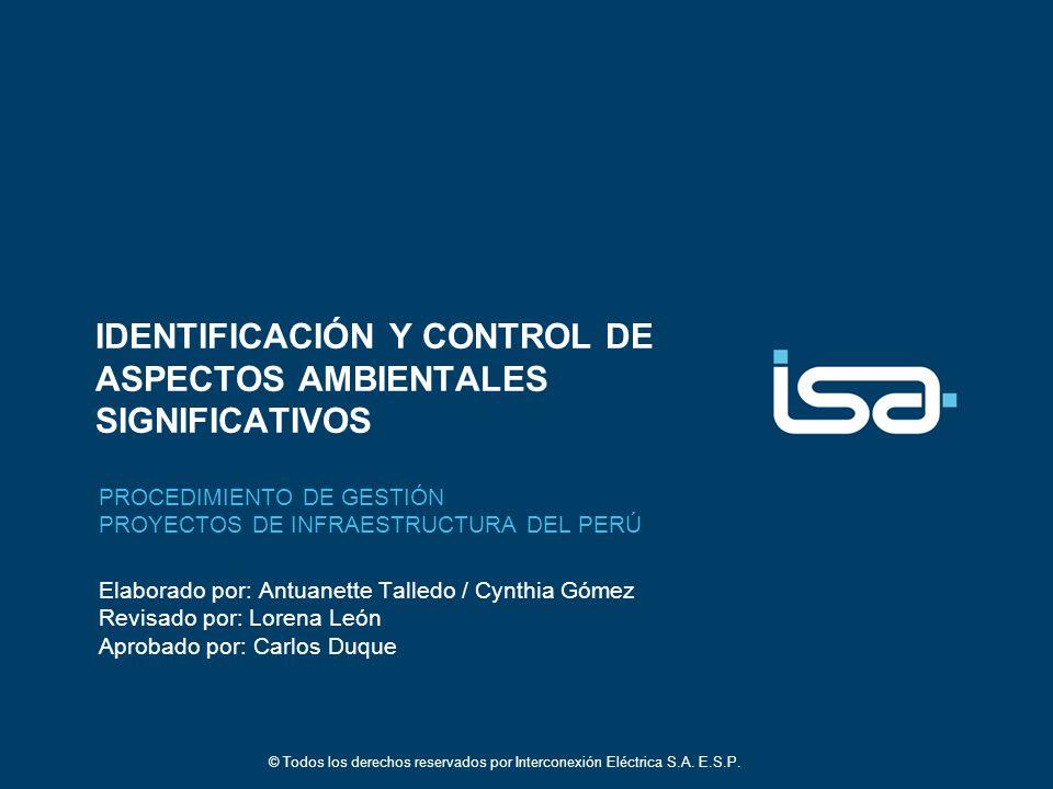 IDENTIFICACIÓN Y CONTROL DE ASPECTOS AMBIENTALES SIGNIFICATIVOS