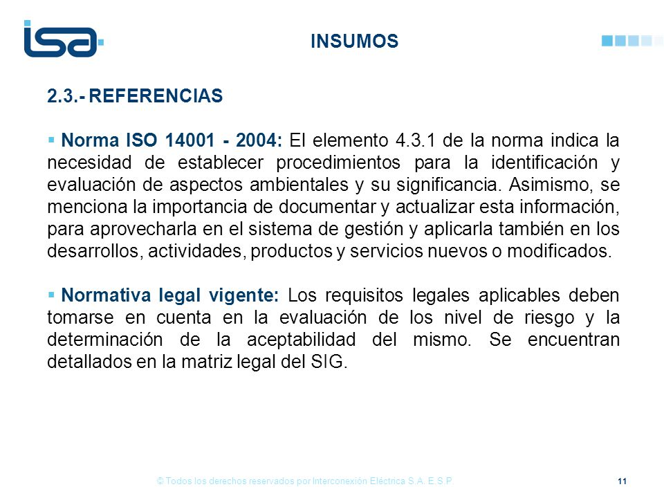 INSUMOS 2.3.- REFERENCIAS.