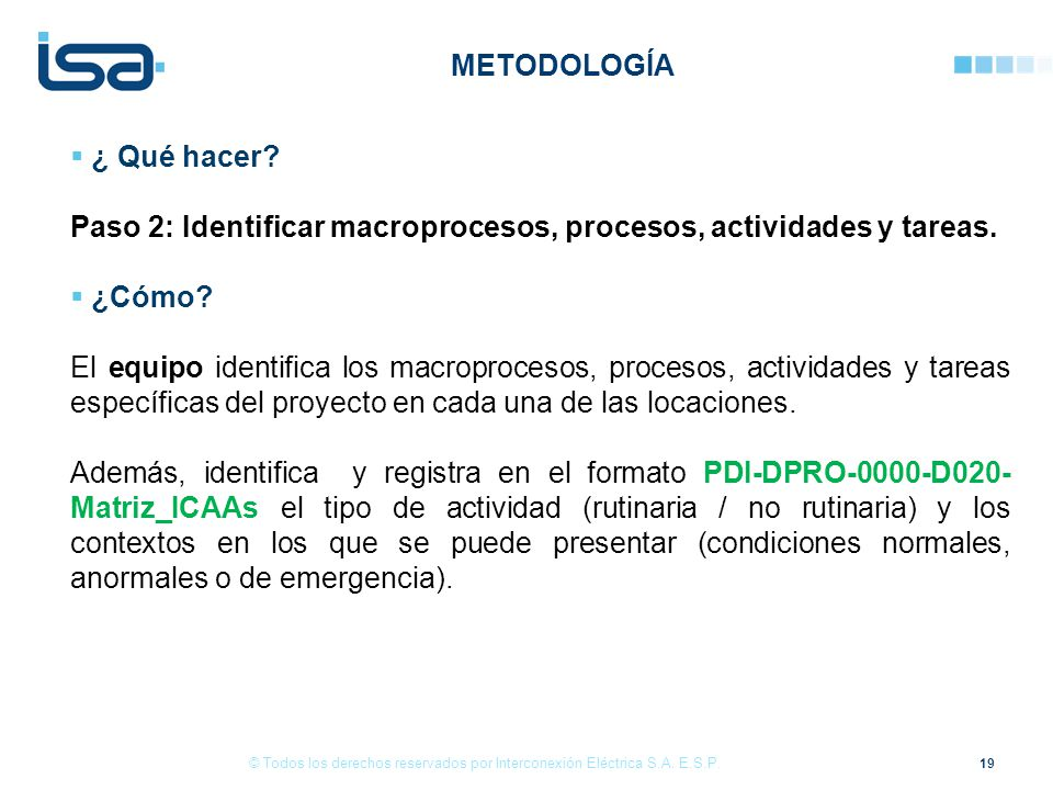 Paso 2: Identificar macroprocesos, procesos, actividades y tareas.