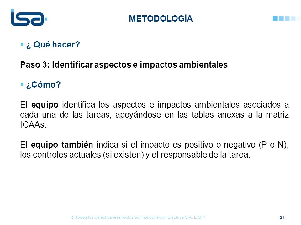 Paso 3: Identificar aspectos e impactos ambientales ¿Cómo