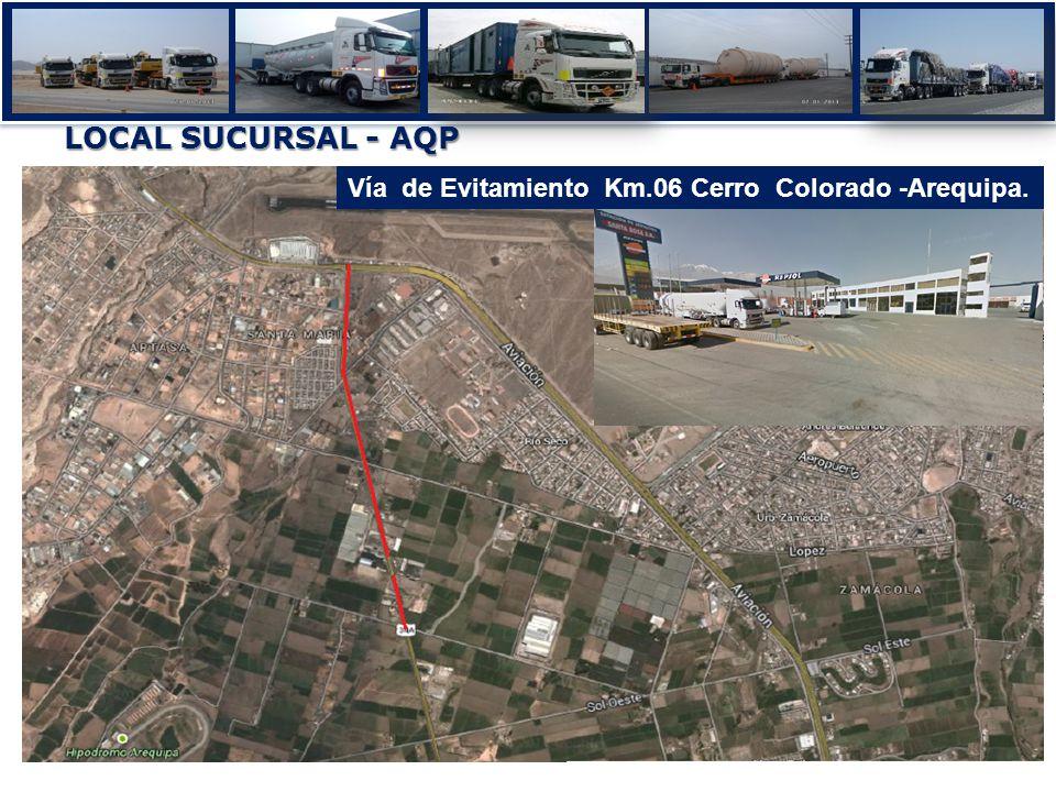 LOCAL SUCURSAL - AQP Vía de Evitamiento Km.06 Cerro Colorado -Arequipa.
