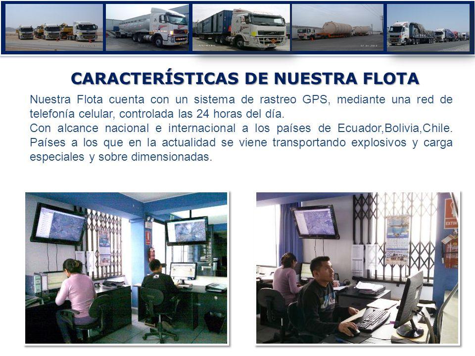 CARACTERÍSTICAS DE NUESTRA FLOTA