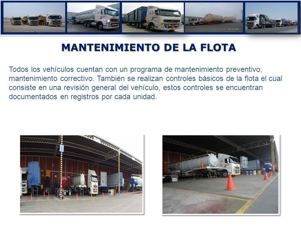 MANTENIMIENTO DE LA FLOTA