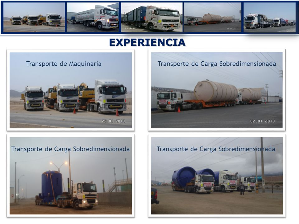 EXPERIENCIA Transporte de Maquinaria