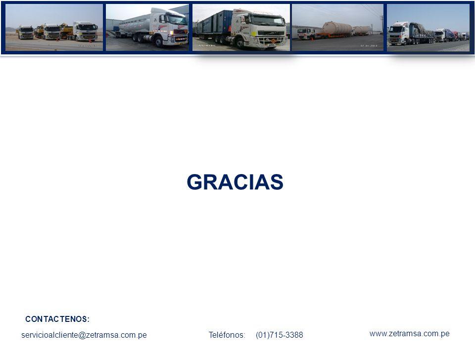 GRACIAS CONTACTENOS: servicioalcliente@zetramsa.com.pe