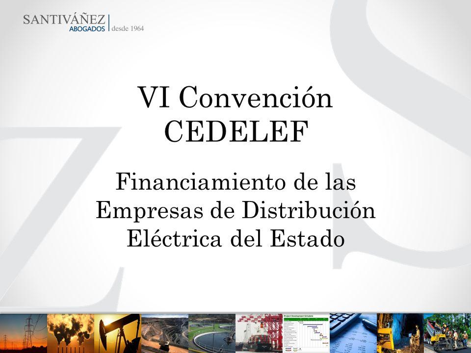 Financiamiento de las Empresas de Distribución Eléctrica del Estado