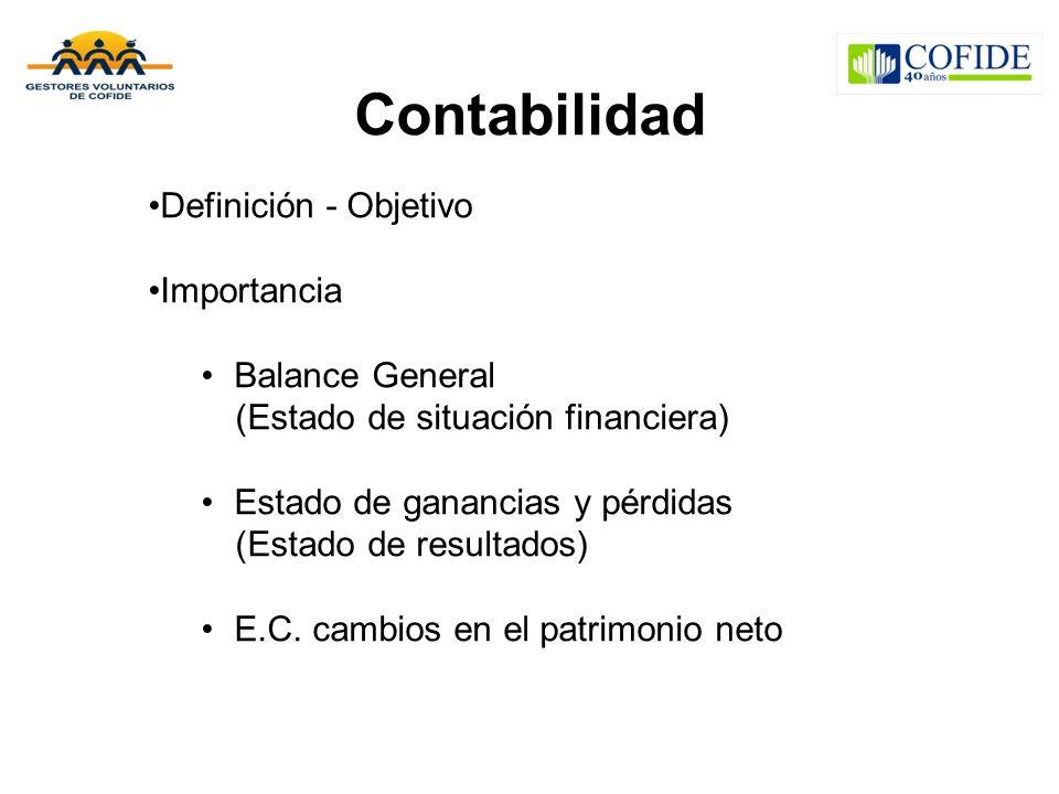 Contabilidad Definición - Objetivo Importancia Balance General