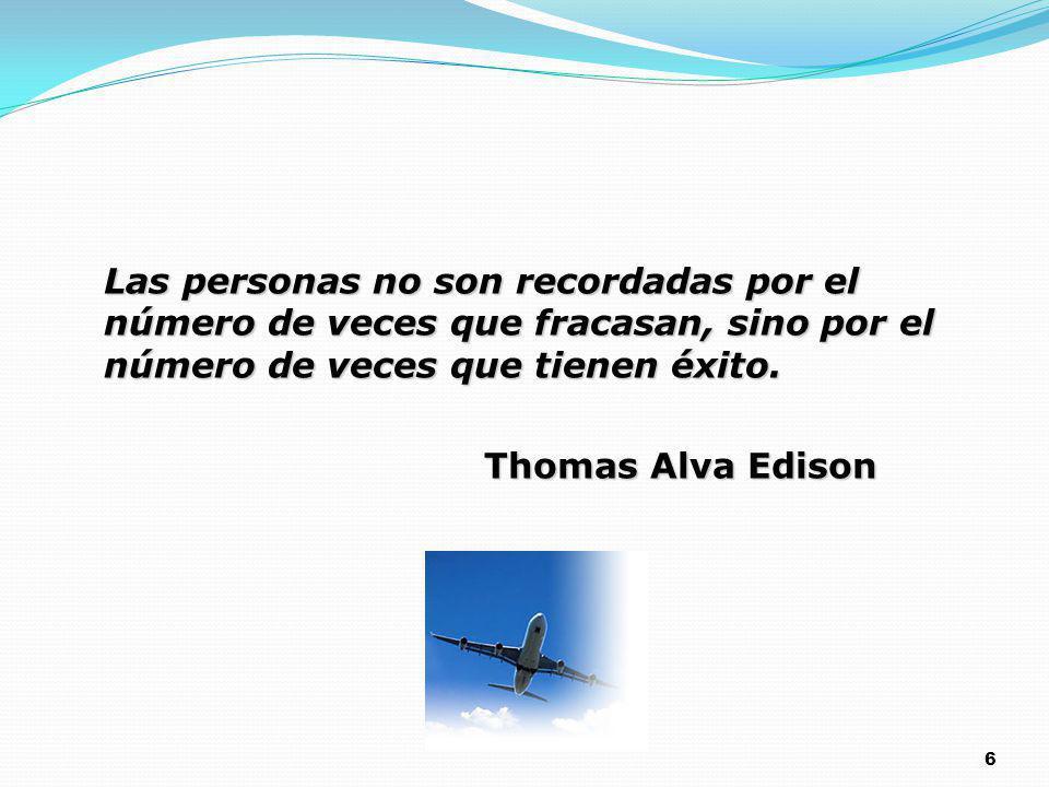 Las personas no son recordadas por el número de veces que fracasan, sino por el número de veces que tienen éxito.