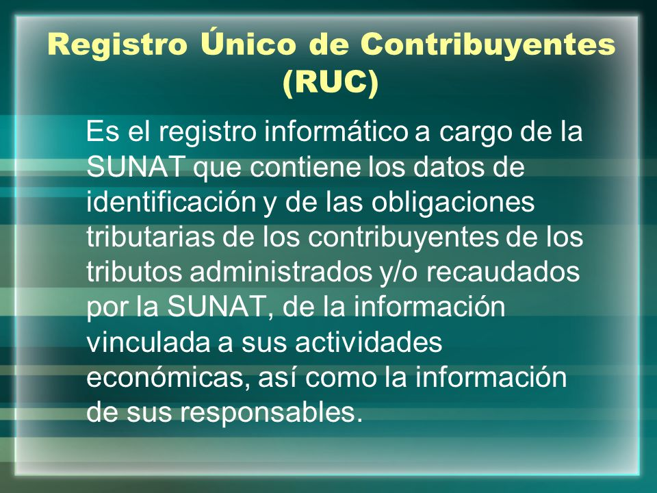 Registro Único de Contribuyentes (RUC)