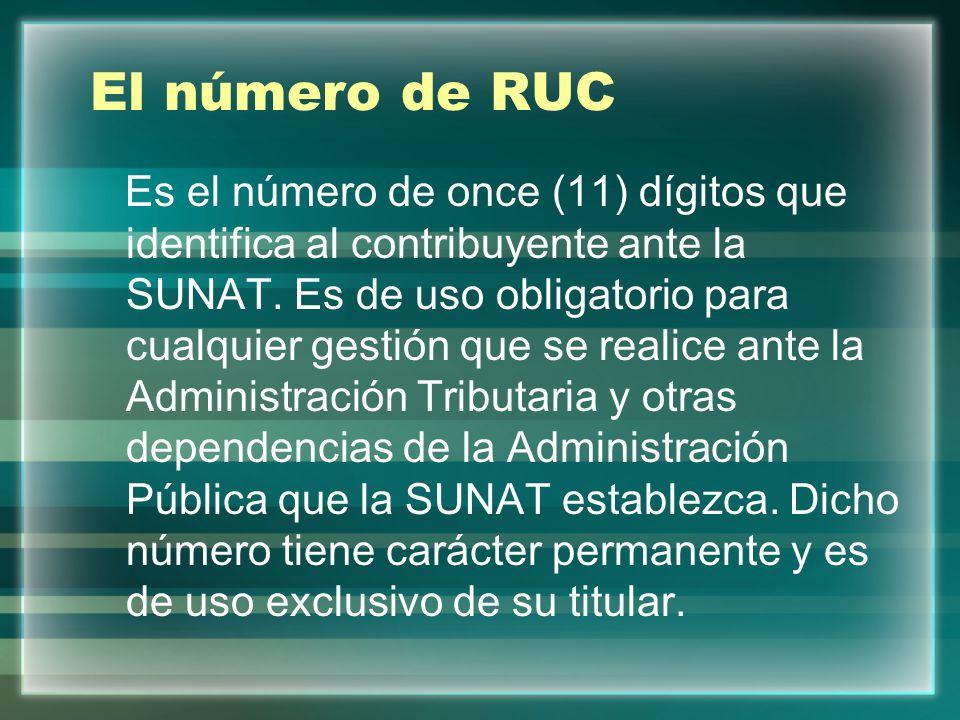 El número de RUC