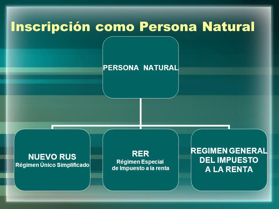 Inscripción como Persona Natural