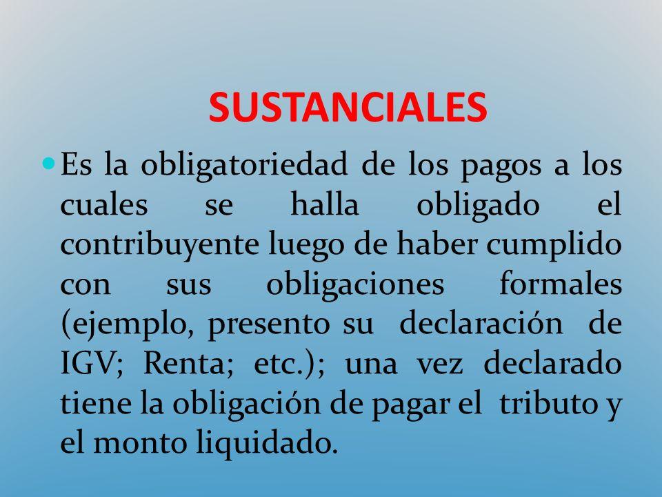 SUSTANCIALES