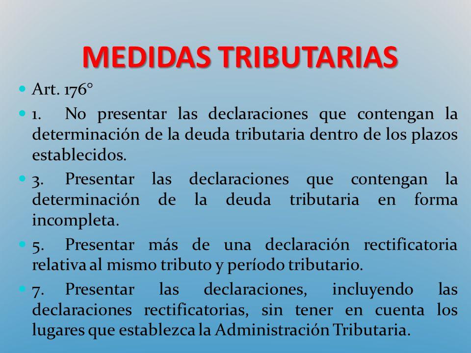 MEDIDAS TRIBUTARIAS Art. 176°