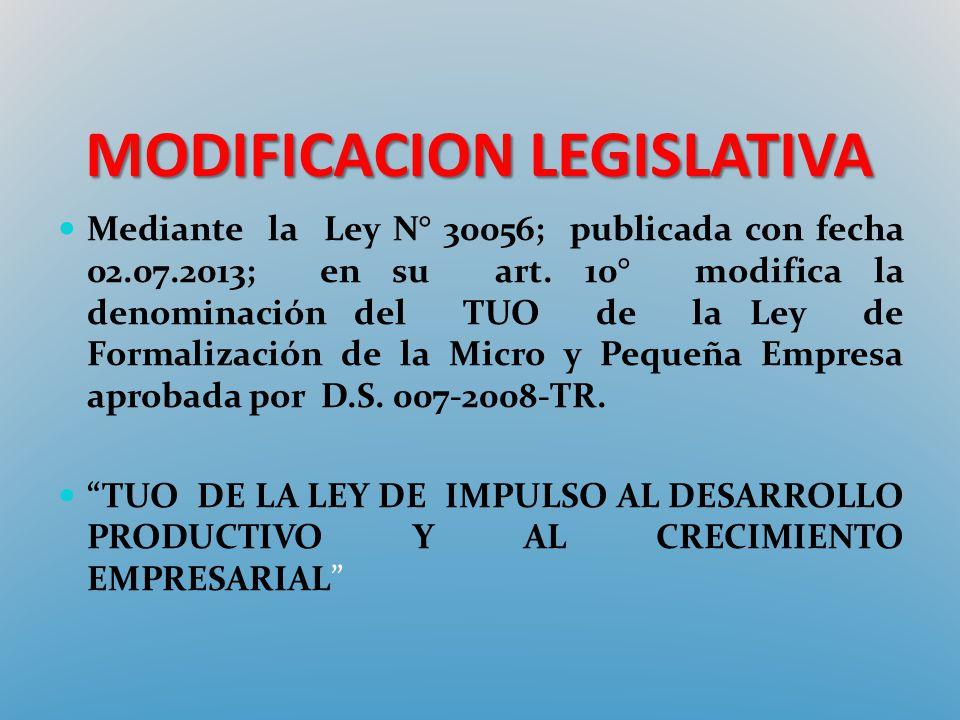 MODIFICACION LEGISLATIVA