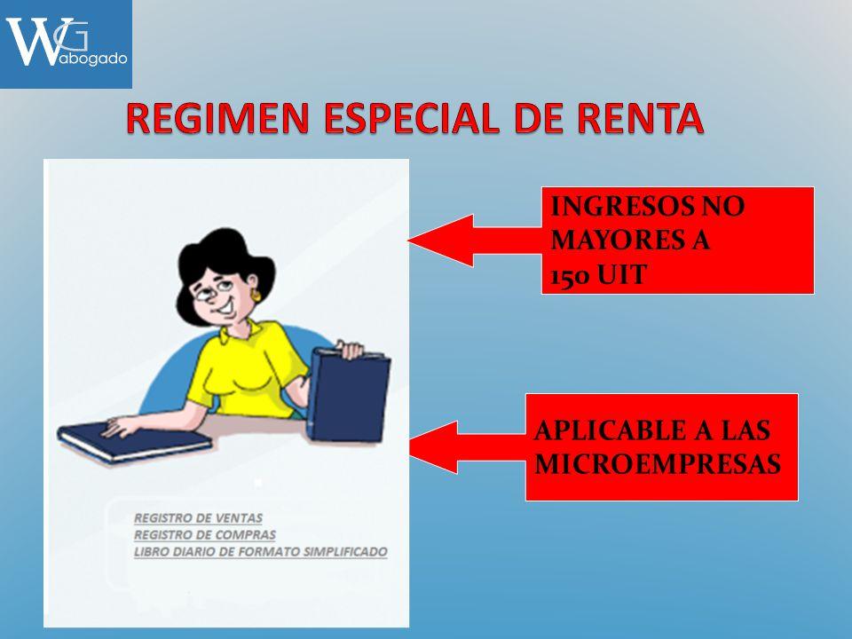 REGIMEN ESPECIAL DE RENTA