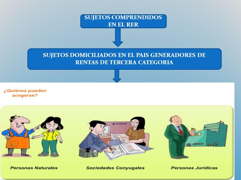 SUJETOS COMPRENDIDOS EN EL RER