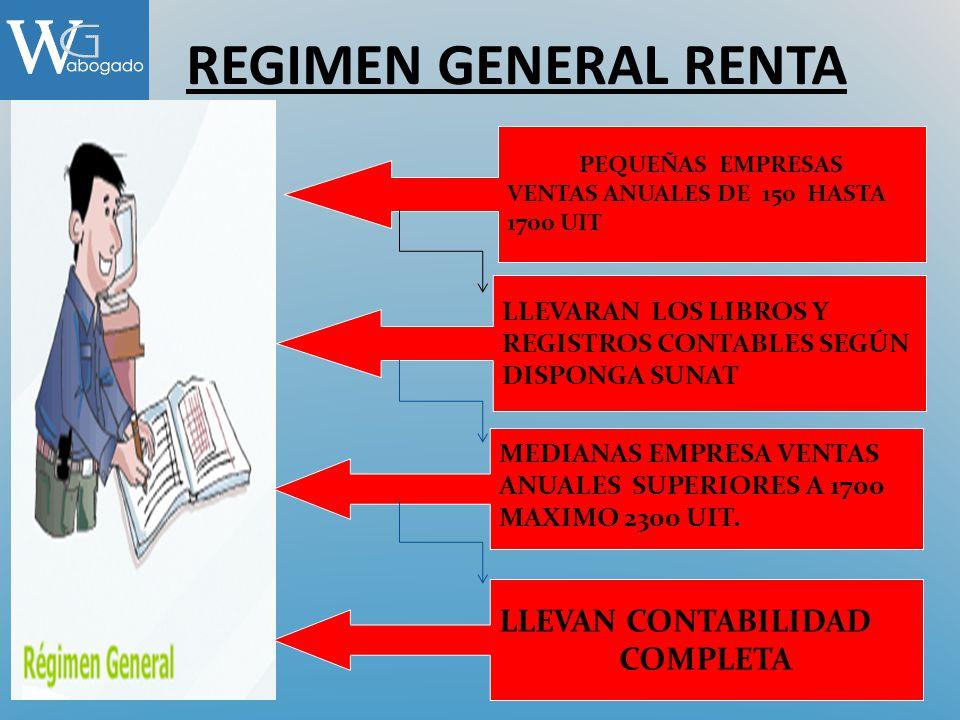 REGIMEN GENERAL RENTA LLEVAN CONTABILIDAD COMPLETA