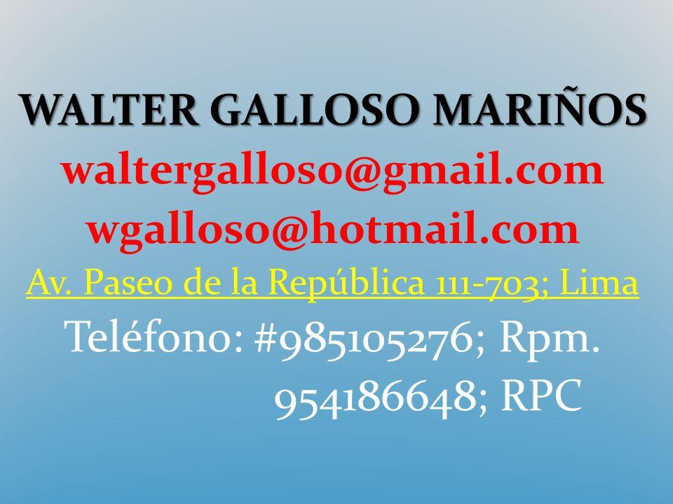 WALTER GALLOSO MARIÑOS