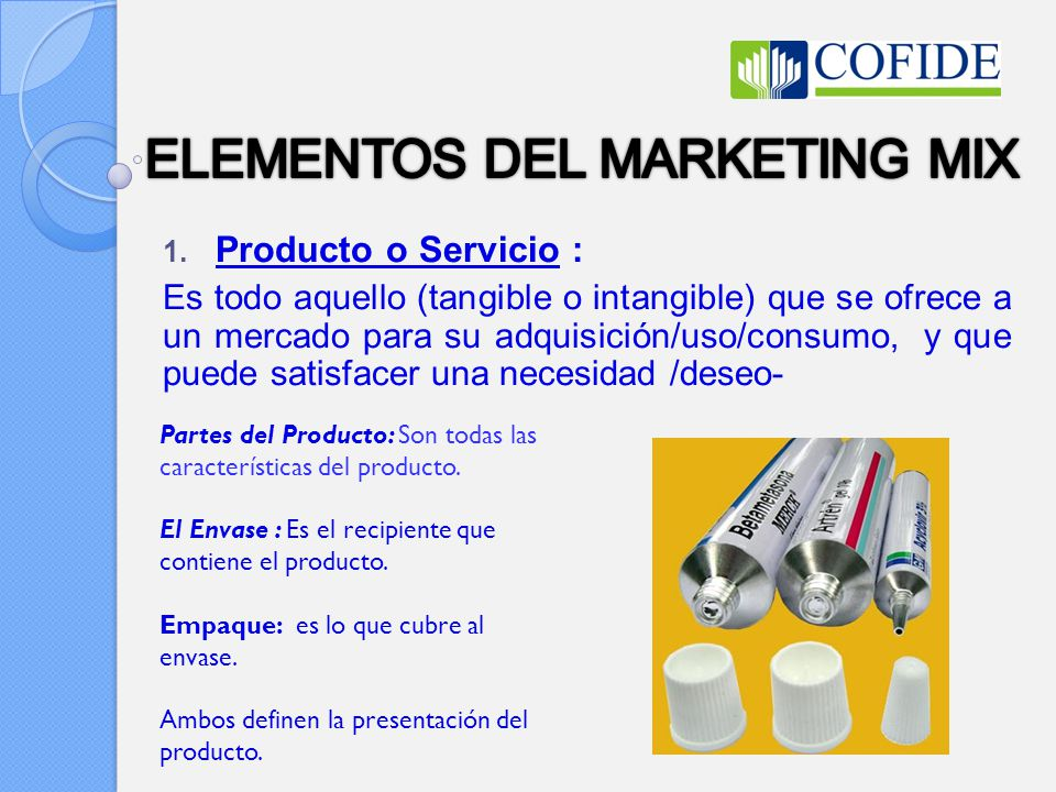 ELEMENTOS DEL MARKETING MIX