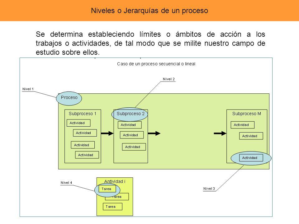 Niveles o Jerarquías de un proceso