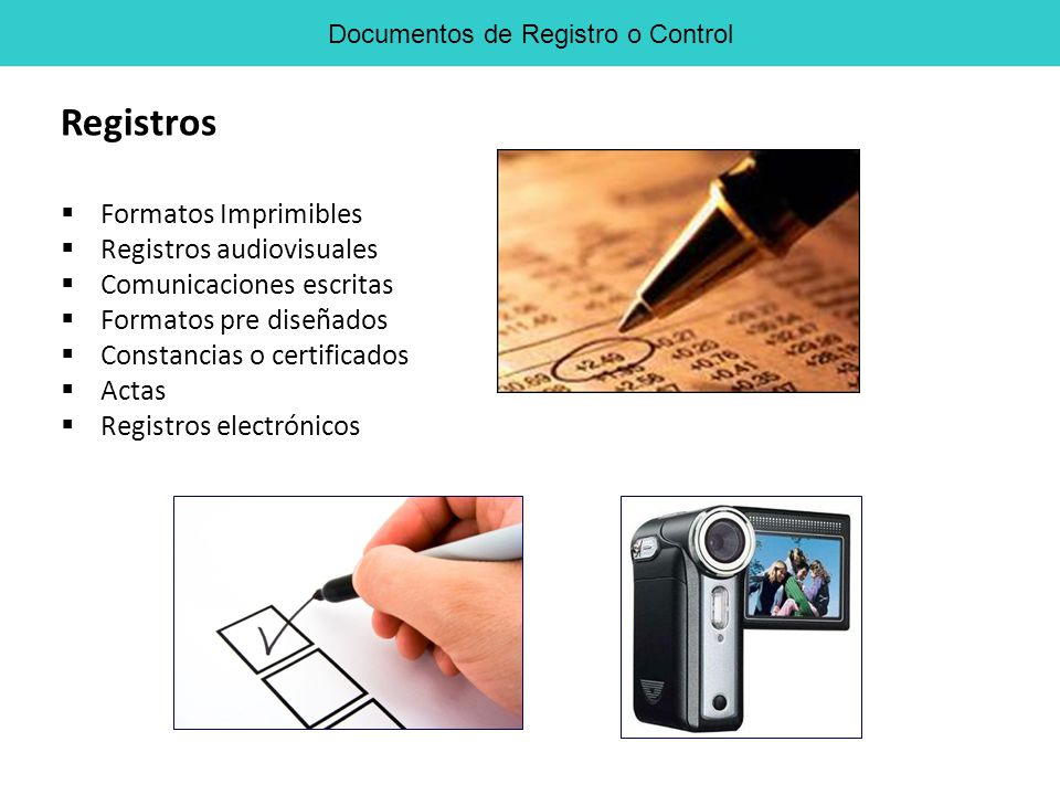 Documentos de Registro o Control