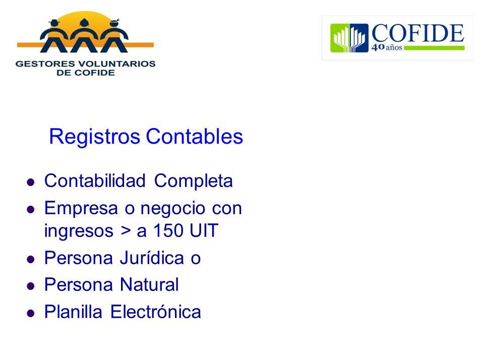Registros Contables Contabilidad Completa