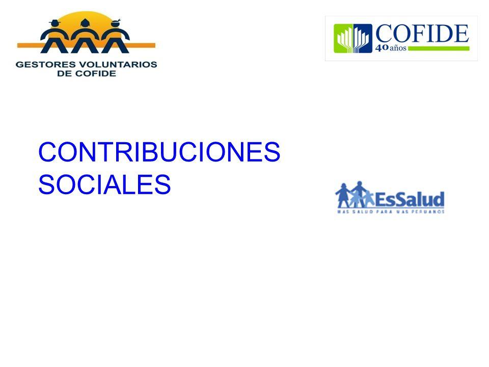 CONTRIBUCIONES SOCIALES