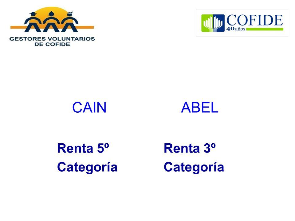 CAIN ABEL Renta 5º Renta 3º Categoría Categoría