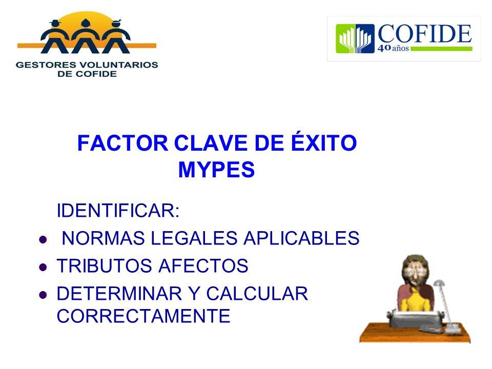 FACTOR CLAVE DE ÉXITO MYPES
