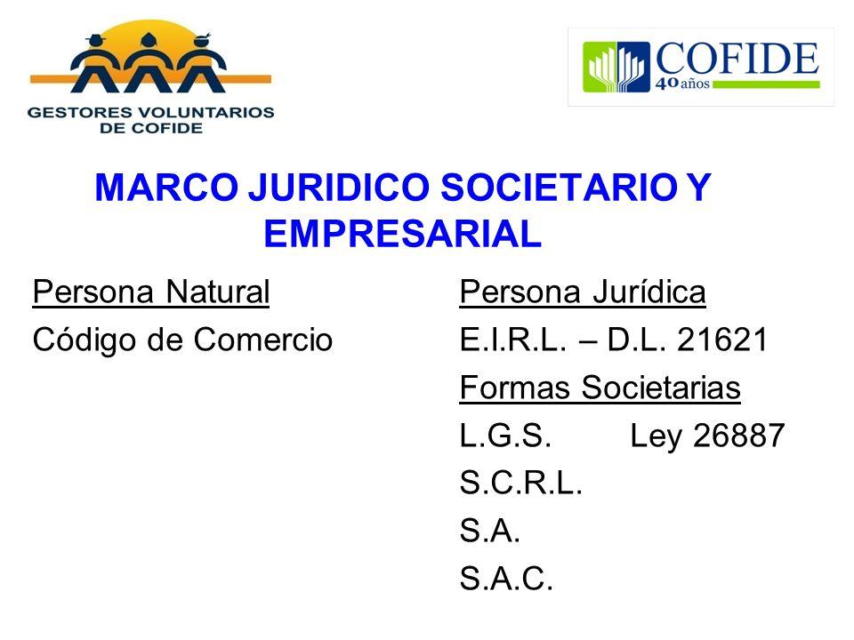 MARCO JURIDICO SOCIETARIO Y EMPRESARIAL