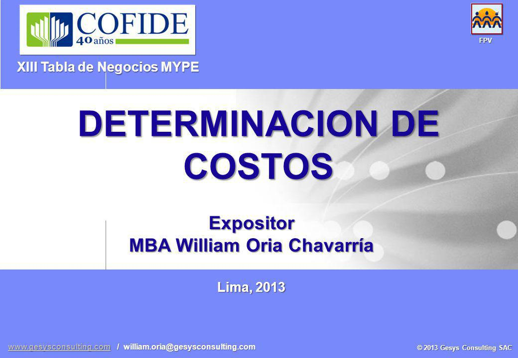 DETERMINACION DE COSTOS