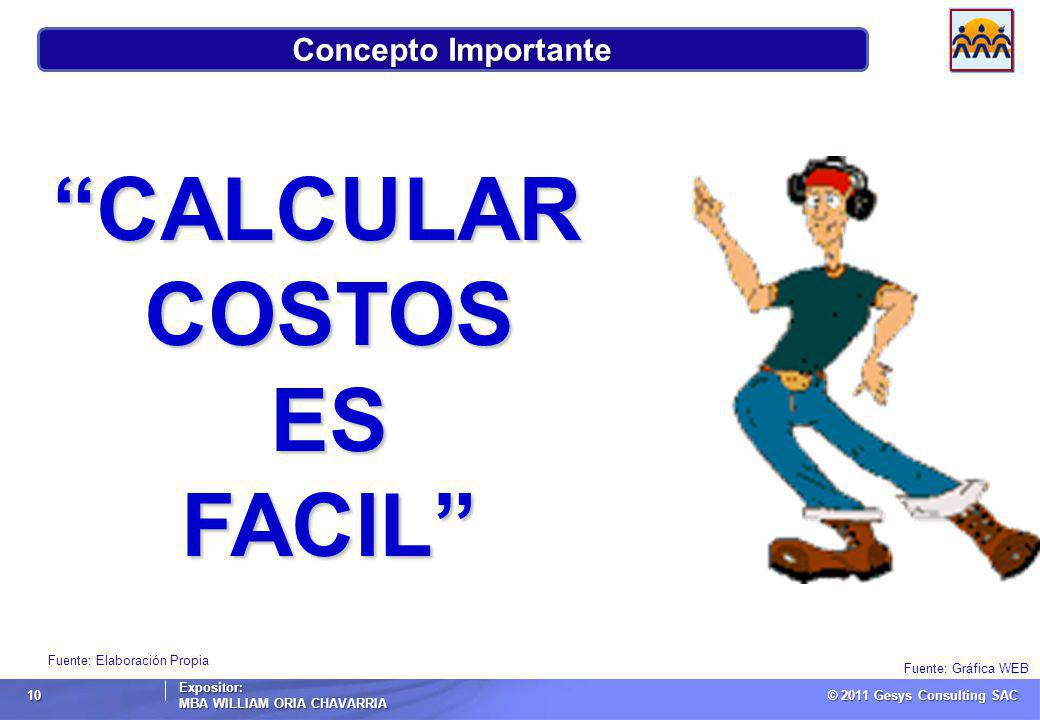 CALCULAR COSTOS ES FACIL