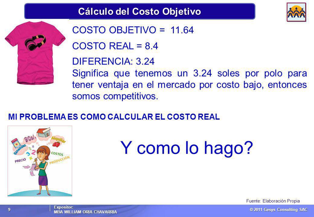 Cálculo del Costo Objetivo