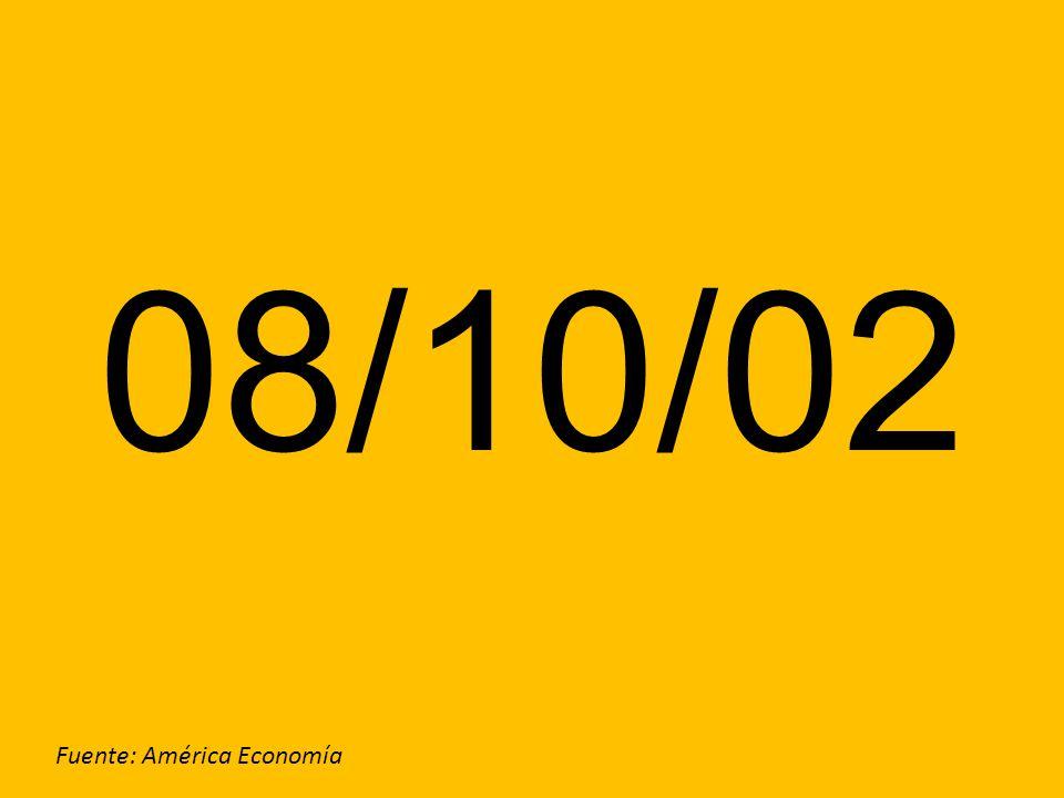 08/10/02 Fuente: América Economía