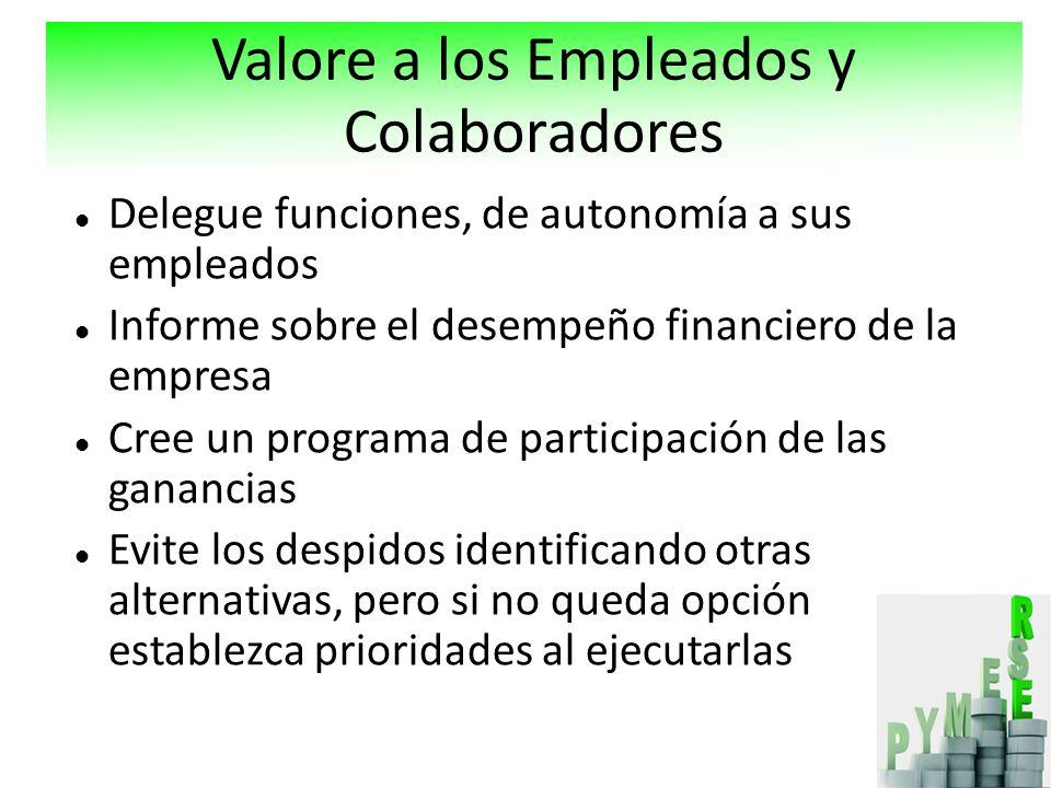 Valore a los Empleados y Colaboradores