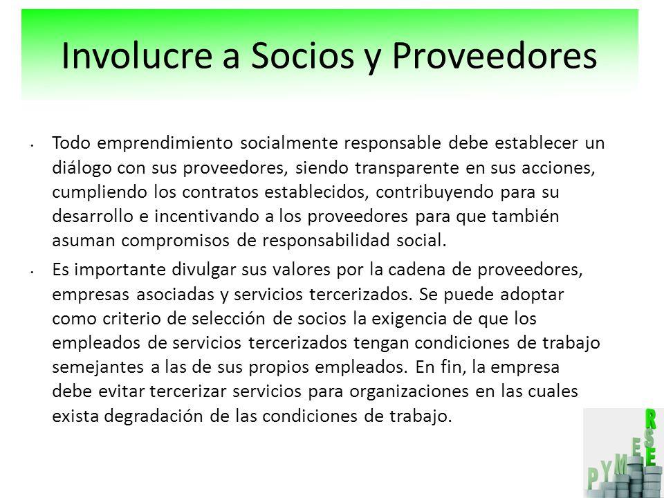 Involucre a Socios y Proveedores