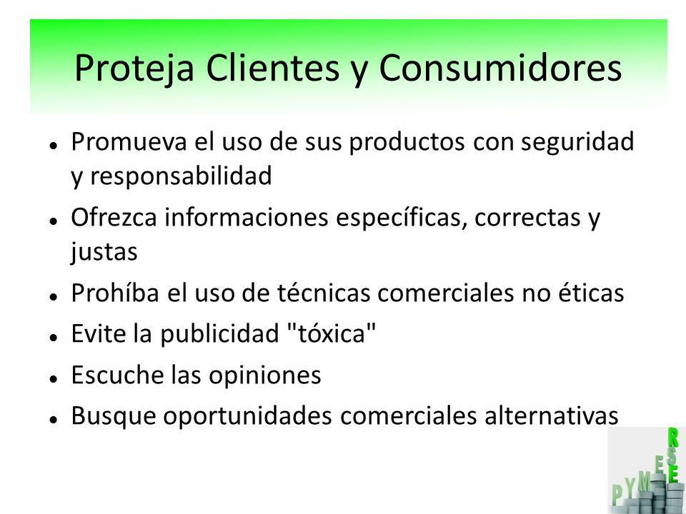 Proteja Clientes y Consumidores