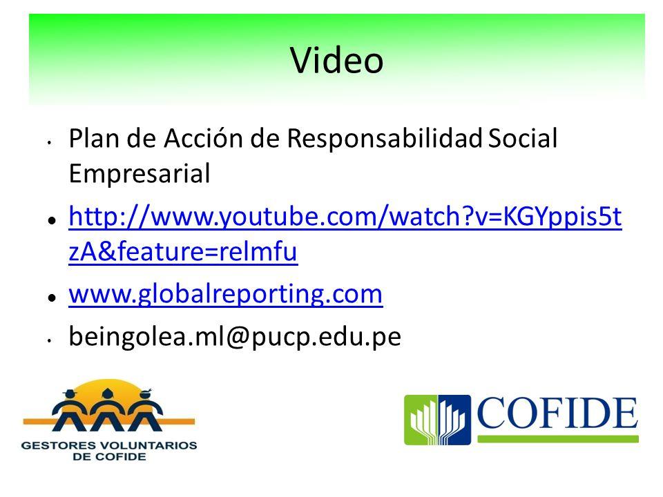 Video Plan de Acción de Responsabilidad Social Empresarial