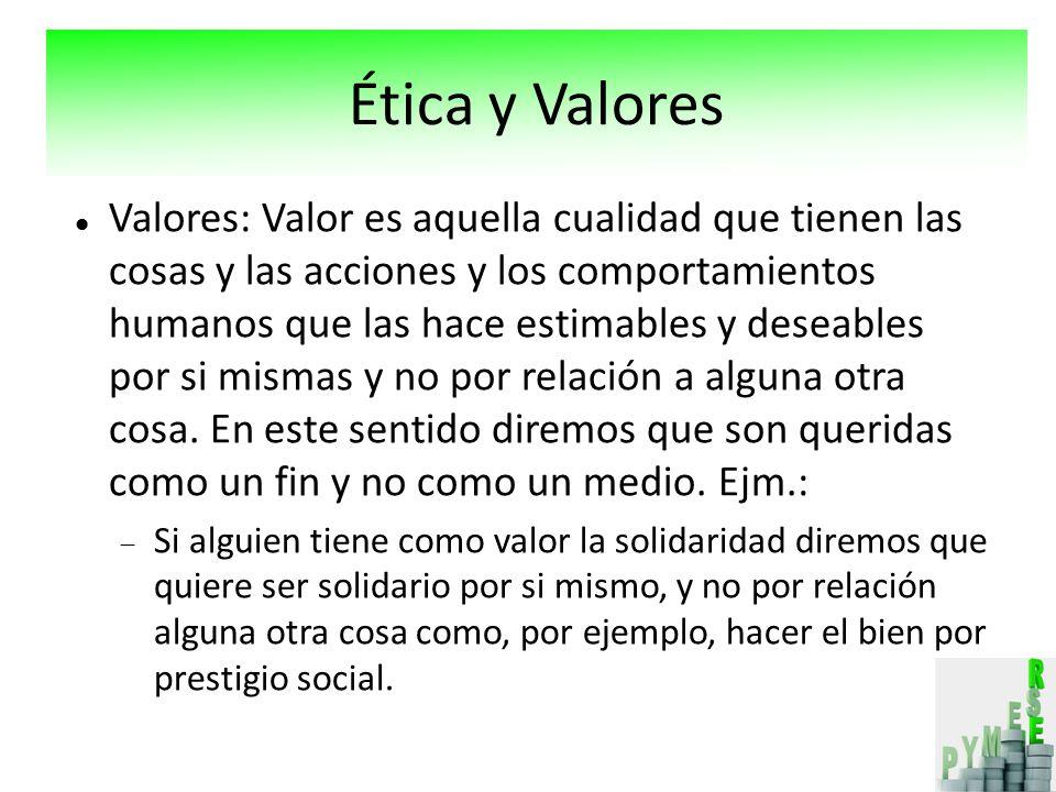 Ética y Valores Ética y Valores