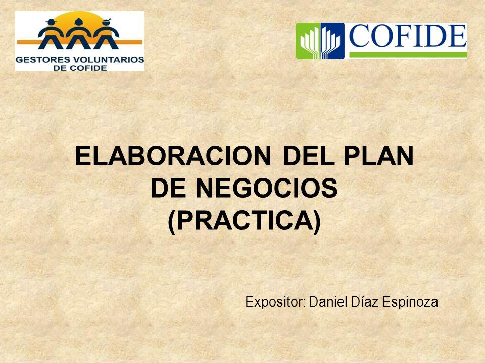 ELABORACION DEL PLAN DE NEGOCIOS (PRACTICA)