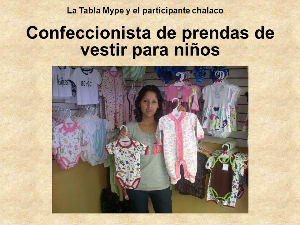 Confeccionista de prendas de vestir para niños