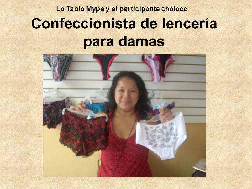 Confeccionista de lencería para damas