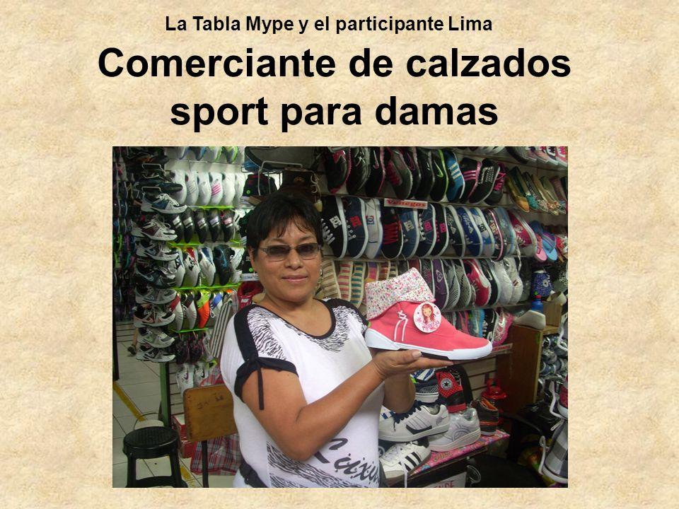 Comerciante de calzados sport para damas