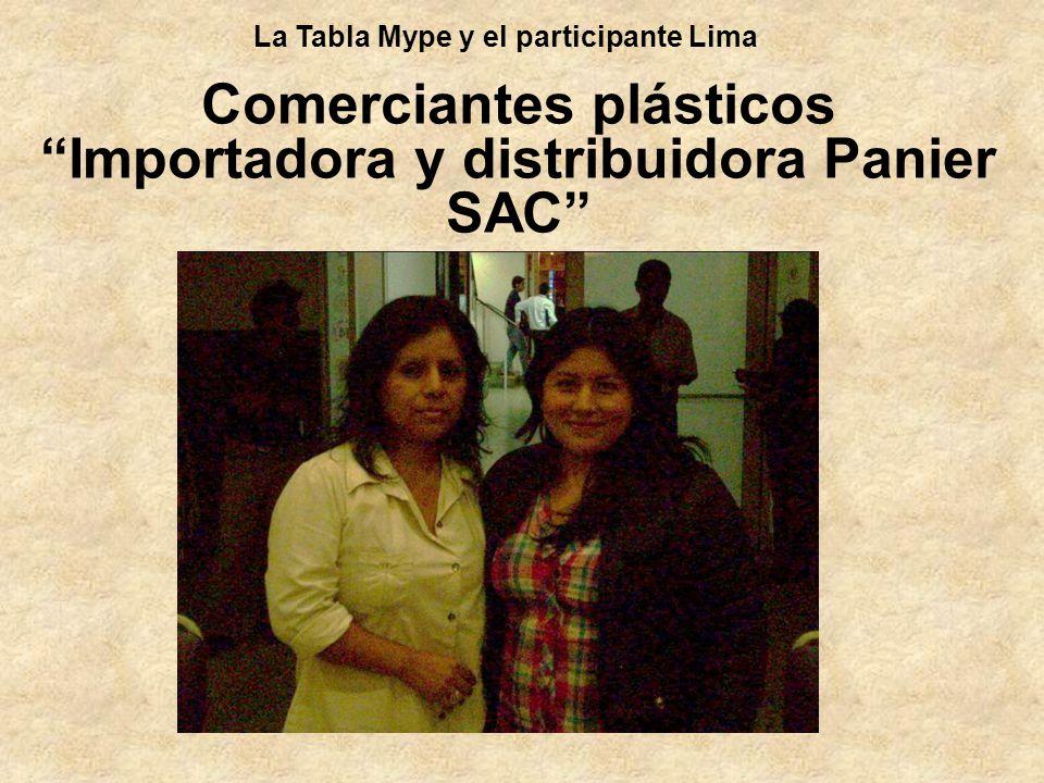 Comerciantes plásticos Importadora y distribuidora Panier SAC