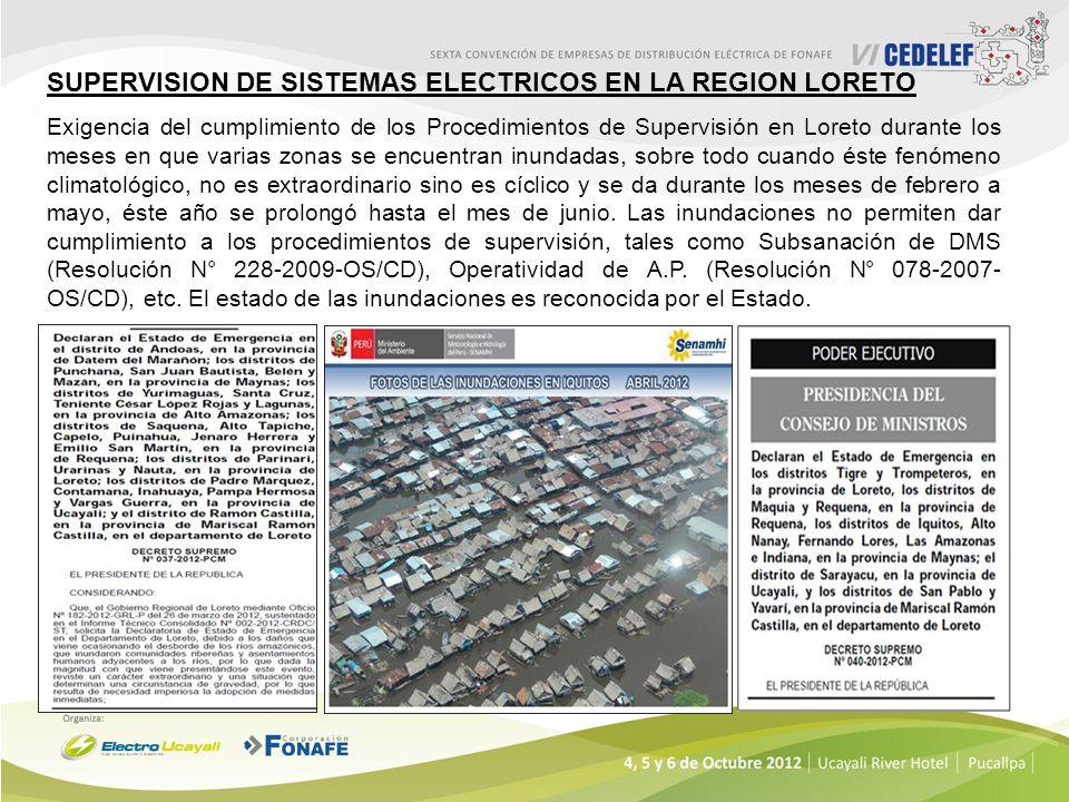 SUPERVISION DE SISTEMAS ELECTRICOS EN LA REGION LORETO