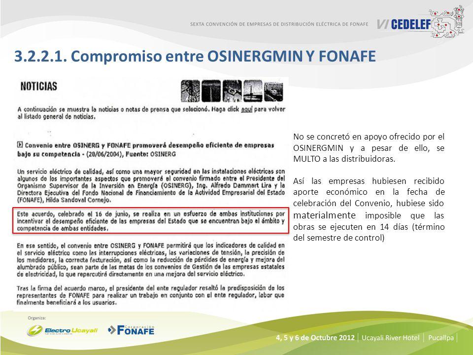3.2.2.1. Compromiso entre OSINERGMIN Y FONAFE