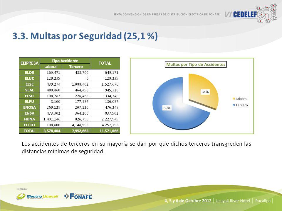 3.3. Multas por Seguridad (25,1 %)