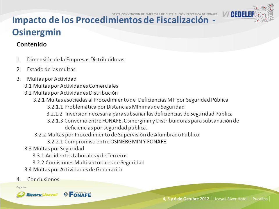 Impacto de los Procedimientos de Fiscalización - Osinergmin