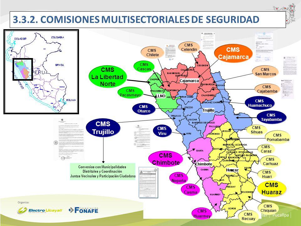 3.3.2. COMISIONES MULTISECTORIALES DE SEGURIDAD